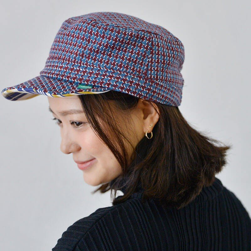 nakota ナコタ HOUNDCHECK ワークキャップ 千鳥格子 帽子 メンズ レディース 大きい 秋 冬 nakota 07