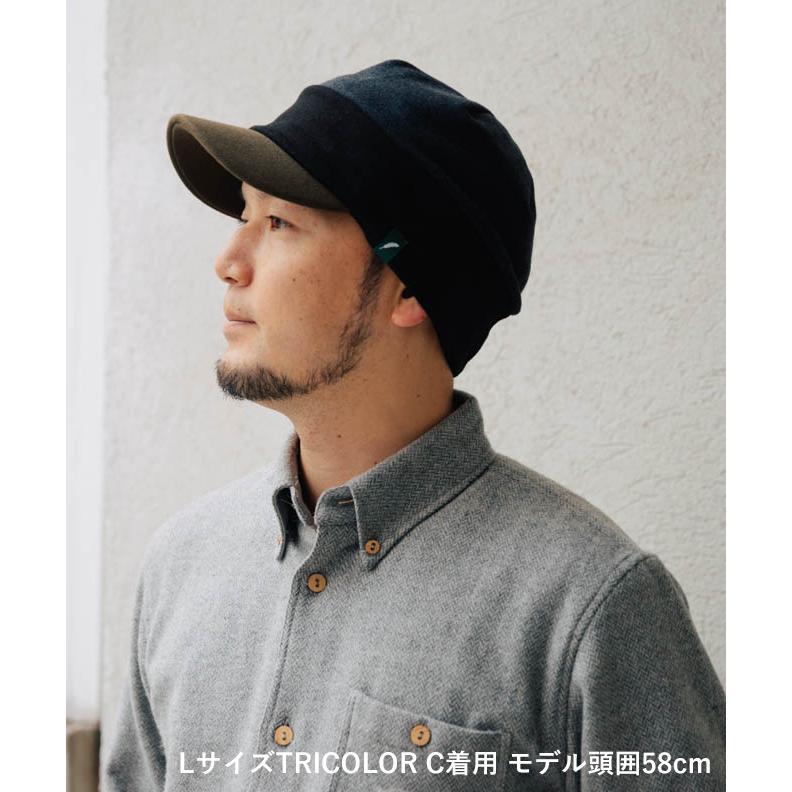 nakota ナコタ スウェットワークキャスケット 帽子 キャップ メンズ レディース トリコロール トライカラー 大きいサイズ ビッグサイズ ゆったり 秋 冬|nakota|02