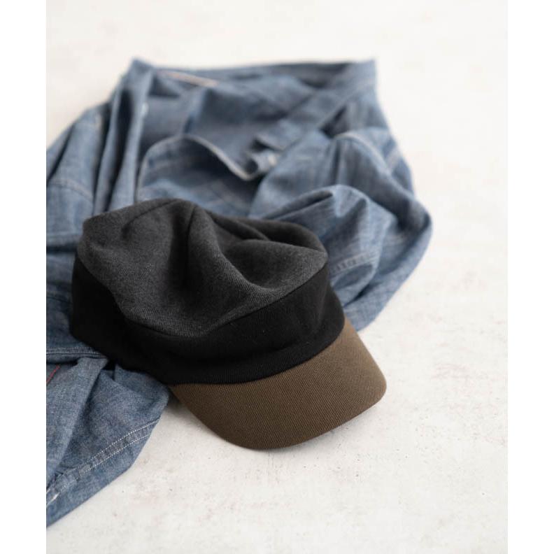 nakota ナコタ スウェットワークキャスケット 帽子 キャップ メンズ レディース トリコロール トライカラー 大きいサイズ ビッグサイズ ゆったり 秋 冬|nakota|16
