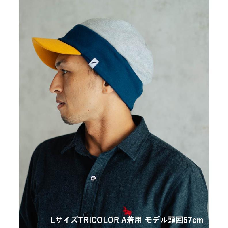 nakota ナコタ スウェットワークキャスケット 帽子 キャップ メンズ レディース トリコロール トライカラー 大きいサイズ ビッグサイズ ゆったり 秋 冬|nakota|04
