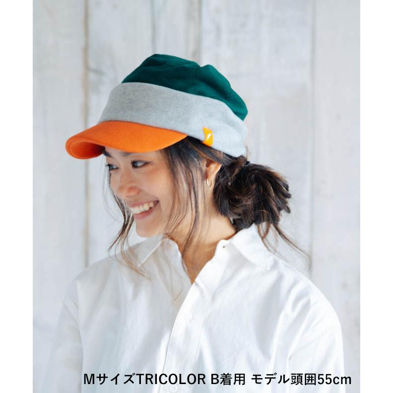 nakota ナコタ スウェットワークキャスケット 帽子 キャップ メンズ レディース トリコロール トライカラー 大きいサイズ ビッグサイズ ゆったり 秋 冬|nakota|06