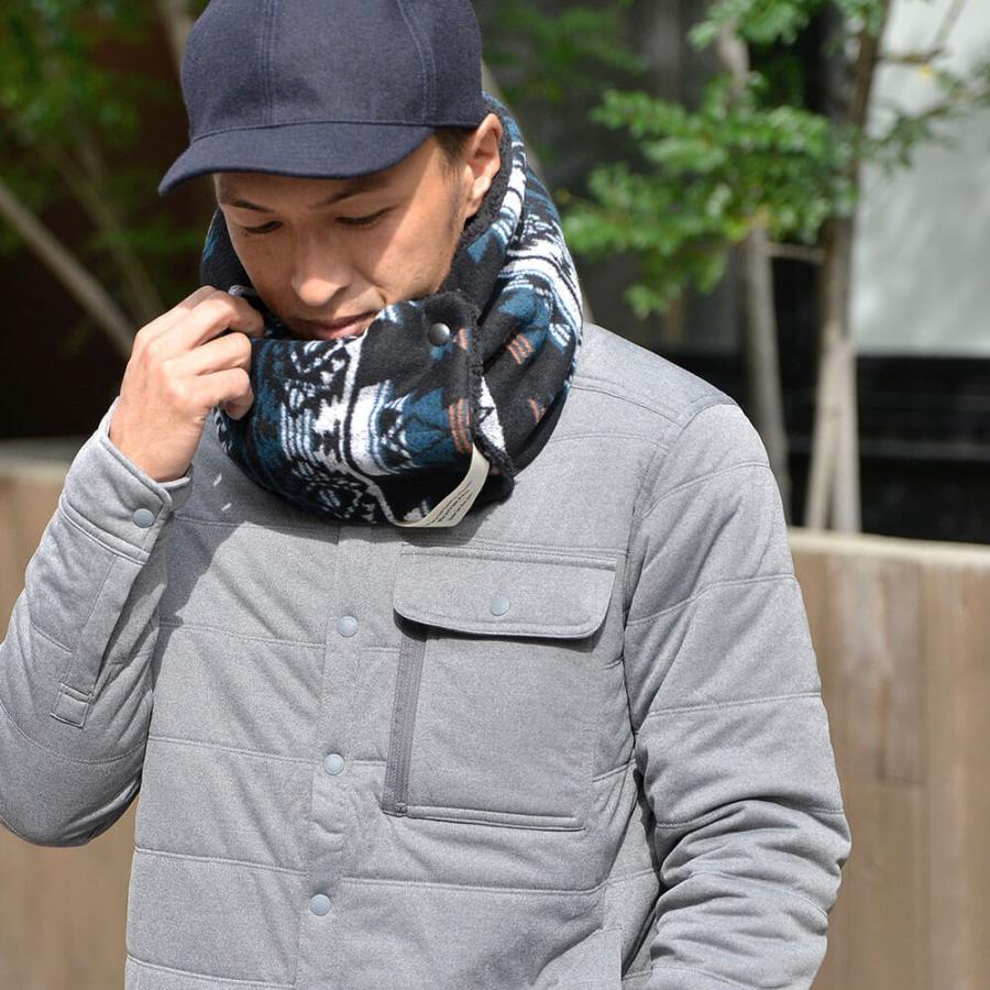 nakota ナコタ スクエアボタン付き マイクロボア シングルスヌードマフラー 小物 冬 防寒|nakota|03