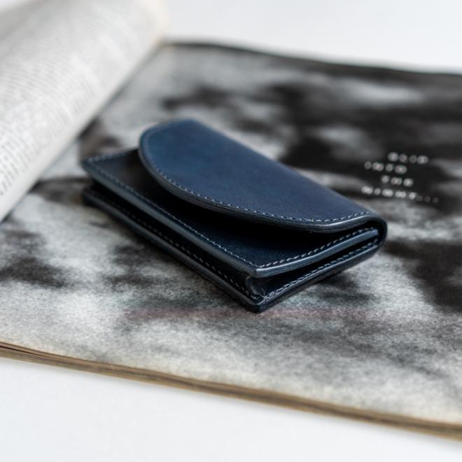 RE.ACT リアクト Solid Indigo Card Case ソリッドインディゴカードケース 名刺入れ カード入れ パスケース 本革 日本製 ビジネス プレゼント ギフト|nakota|03