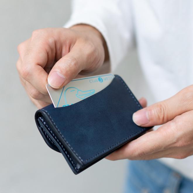 RE.ACT リアクト Solid Indigo Card Case ソリッドインディゴカードケース 名刺入れ カード入れ パスケース 本革 日本製 ビジネス プレゼント ギフト|nakota|07