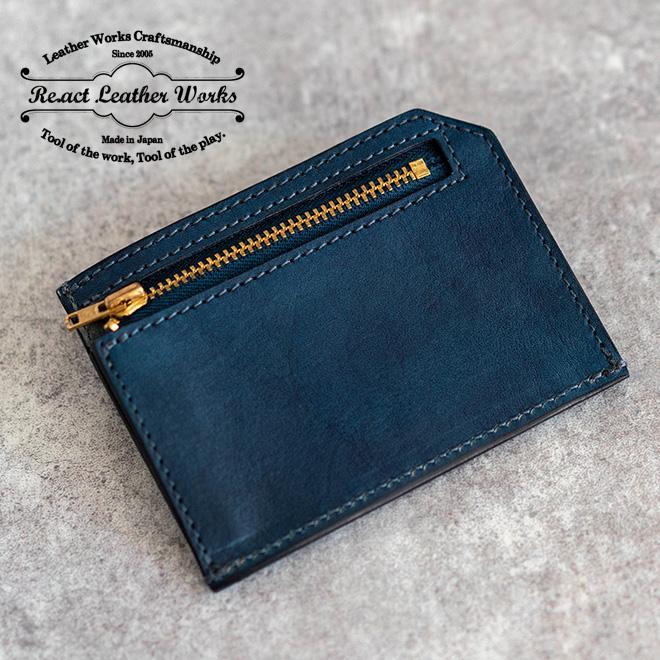 RE.ACT リアクト Solid Indigo Slim Wallet コンパクトウォレット スリムウォレット 財布 ミニ財布 カードケース コインケース キャッシュレス nakota