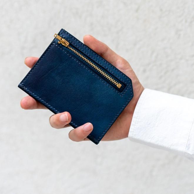 RE.ACT リアクト Solid Indigo Slim Wallet コンパクトウォレット スリムウォレット 財布 ミニ財布 カードケース コインケース キャッシュレス nakota 02