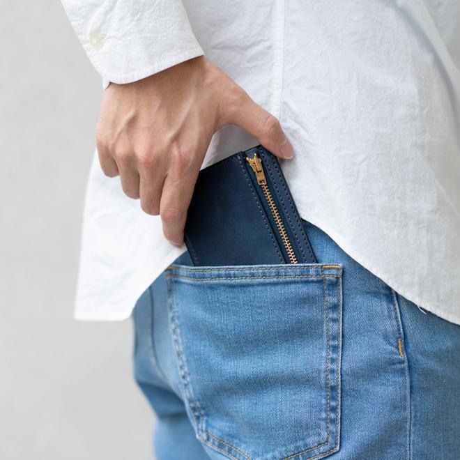 RE.ACT リアクト Solid Indigo Slim Wallet コンパクトウォレット スリムウォレット 財布 ミニ財布 カードケース コインケース キャッシュレス nakota 03