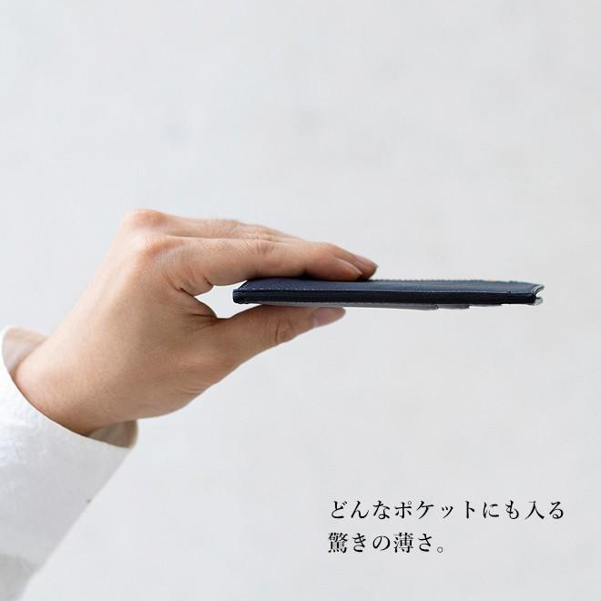 RE.ACT リアクト Solid Indigo Slim Wallet コンパクトウォレット スリムウォレット 財布 ミニ財布 カードケース コインケース キャッシュレス nakota 04