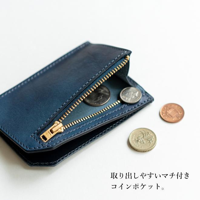 RE.ACT リアクト Solid Indigo Slim Wallet コンパクトウォレット スリムウォレット 財布 ミニ財布 カードケース コインケース キャッシュレス nakota 05