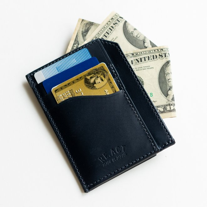 RE.ACT リアクト Solid Indigo Slim Wallet コンパクトウォレット スリムウォレット 財布 ミニ財布 カードケース コインケース キャッシュレス nakota 07