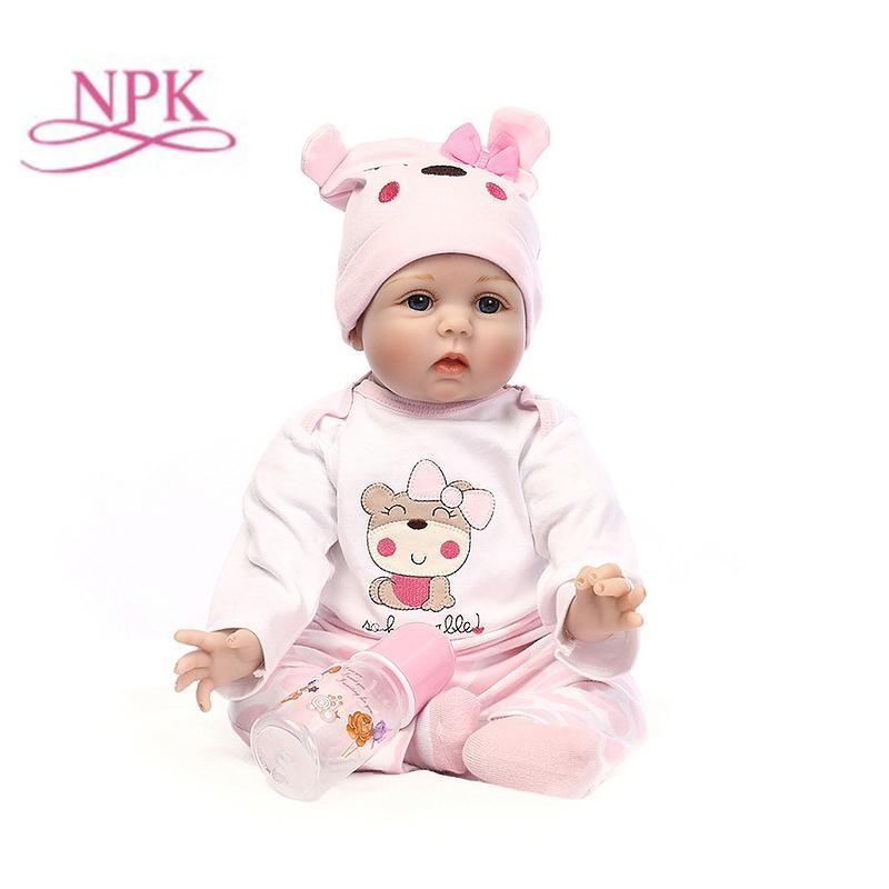 赤ちゃん 人形 リボーン ベイビー ドール 抱き人形 女の子 衣装付き 55CM