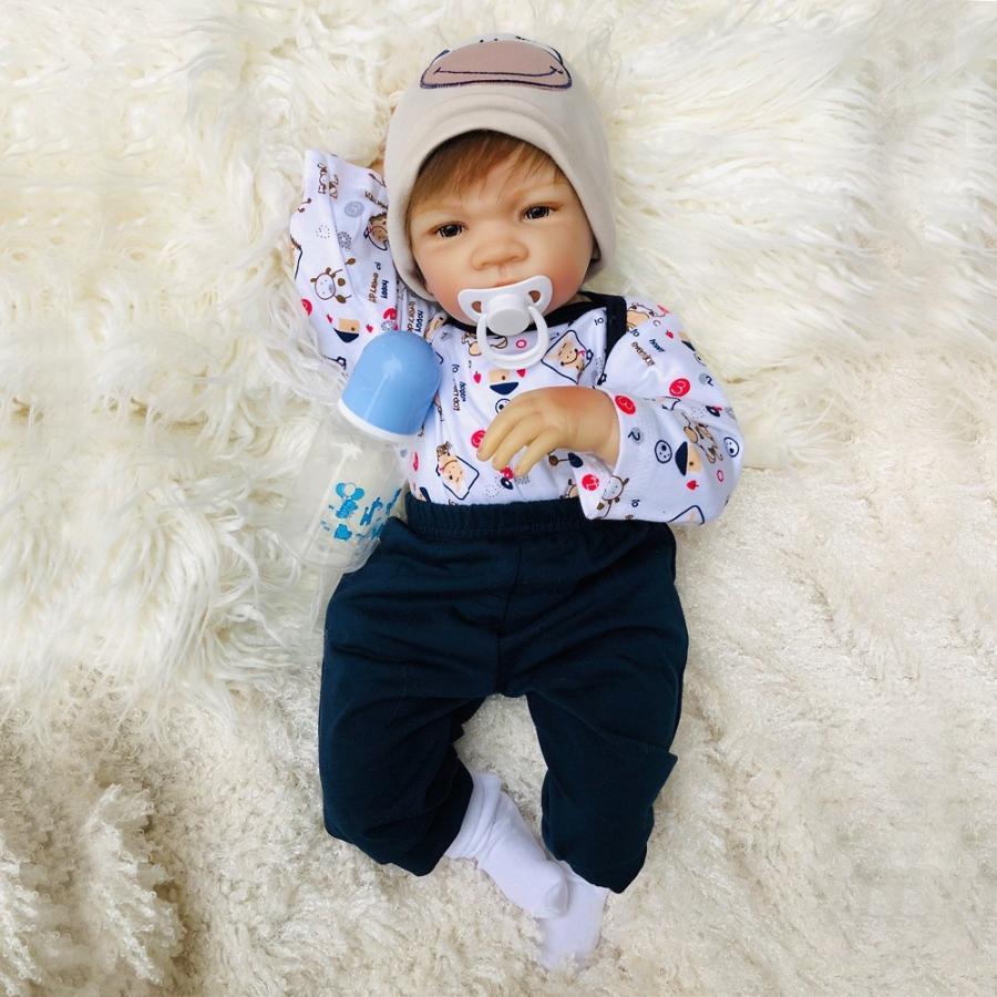 赤ちゃん 人形 リボーン ベイビー ドール 抱き人形 男の子B 衣装付き 50CM