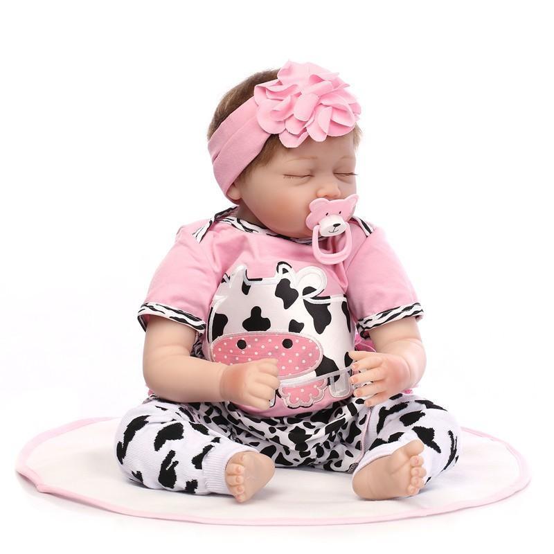 赤ちゃん 人形 リボーン ベイビー ドール 抱き人形 新生児C 睡眠 衣装付き 55CM