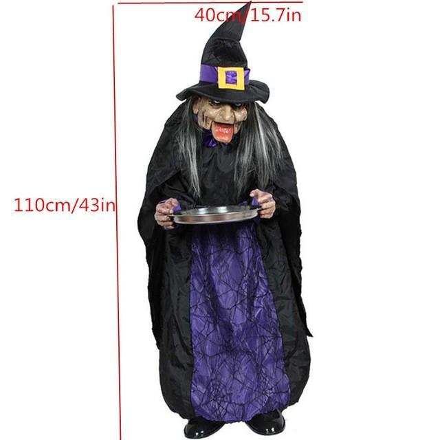 ハロウィーン 装飾電気 ホラー小道具おもちゃ 幽霊お化け屋敷人形 06002