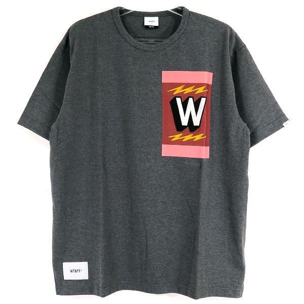 WTAPS ダブルタップス 18A/W TREMOR/TEE COPO WロゴTシャツ  チャコール|nanainternational