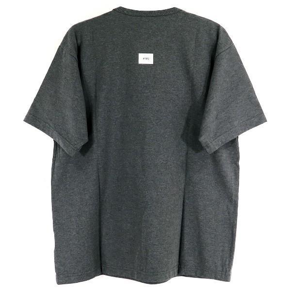 WTAPS ダブルタップス 18A/W TREMOR/TEE COPO WロゴTシャツ  チャコール|nanainternational|02