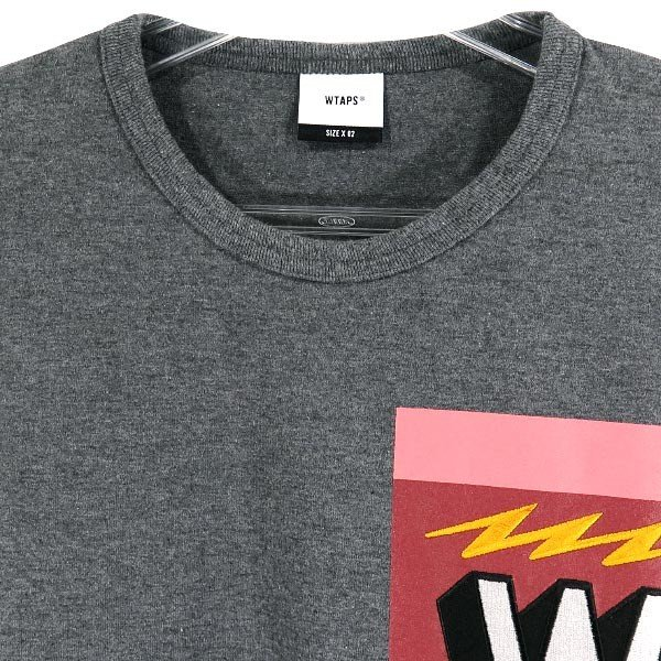 WTAPS ダブルタップス 18A/W TREMOR/TEE COPO WロゴTシャツ  チャコール|nanainternational|03