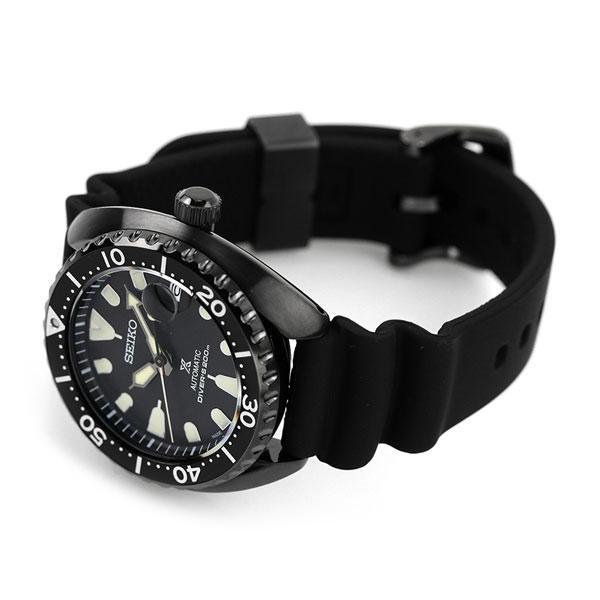 セイコー プロスペックス ダイバー スキューバ ネット流通限定モデル タートル メンズ 腕時計 SBDY087 SEIKO PROSPEX オールブラック 黒|nanaple-ya|04