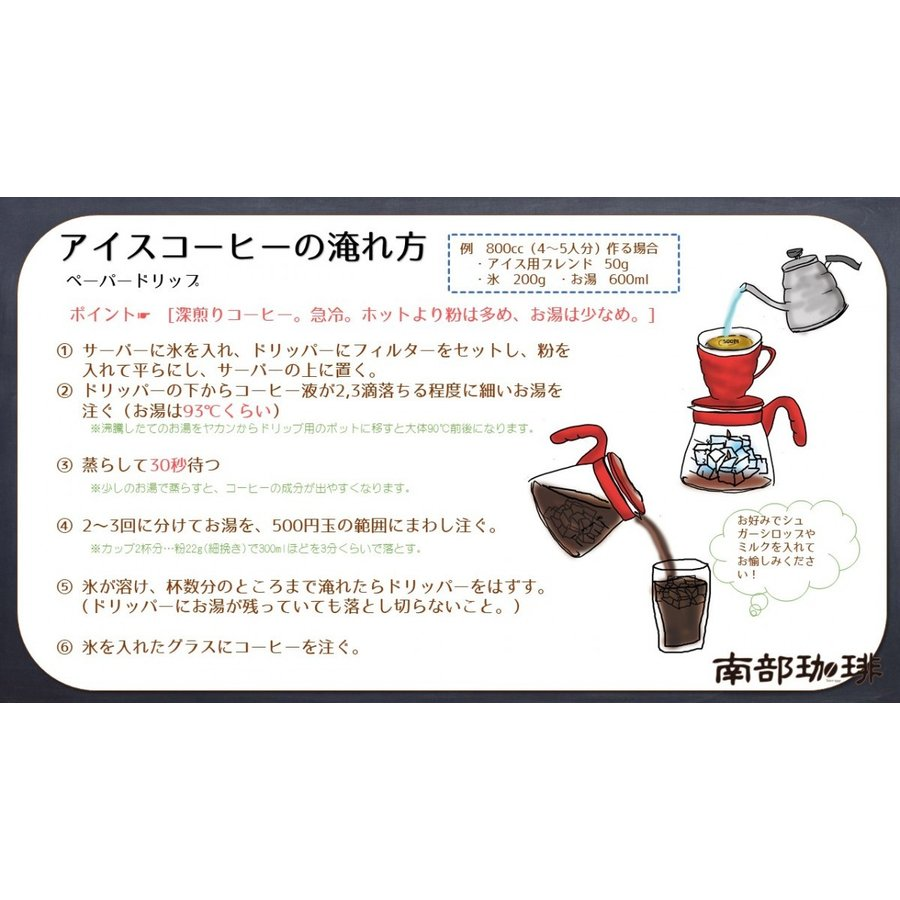 アイス用ブレンド(焙煎豆200g)焙煎したて|nanbucoffee|03