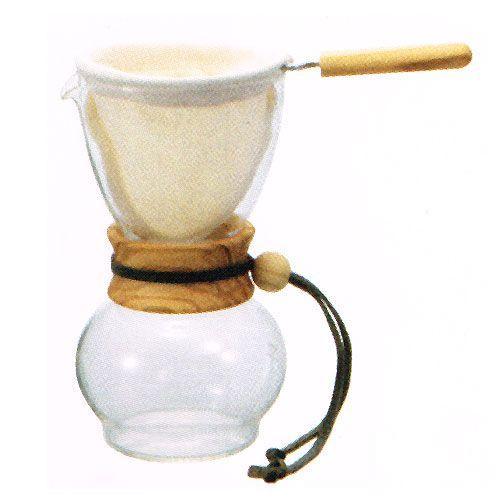 ハリオ ドリップポット・ウッドネック オリーブウッド DPW-3-OV nanbucoffee