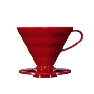 ハリオ V60透過ドリッパー02 レッド(PP製) VD-02R nanbucoffee