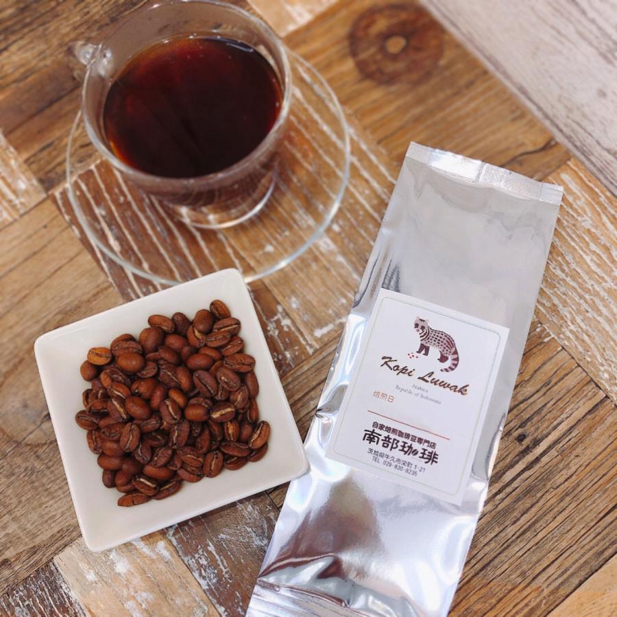僅少品 インドネシア コピ・ルアック(焙煎豆100g) 焙煎したて|nanbucoffee|02