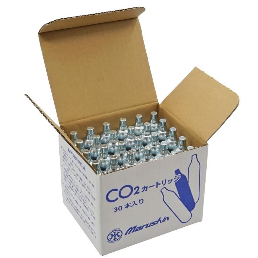 マルシン CO2 カートリッジ 二酸化炭素高圧ガス CO2ガス 30本セット CO2 ガス|naniwabase