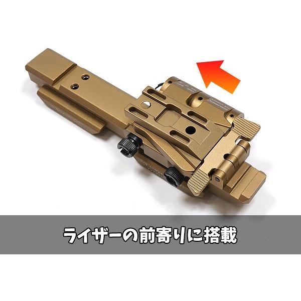 "SOTAC製 特殊部隊仕様 WILCOXタイプ サイドフリップ EOTech マウント 5/8"" ライザーセット 金属製|naniwabase|10"