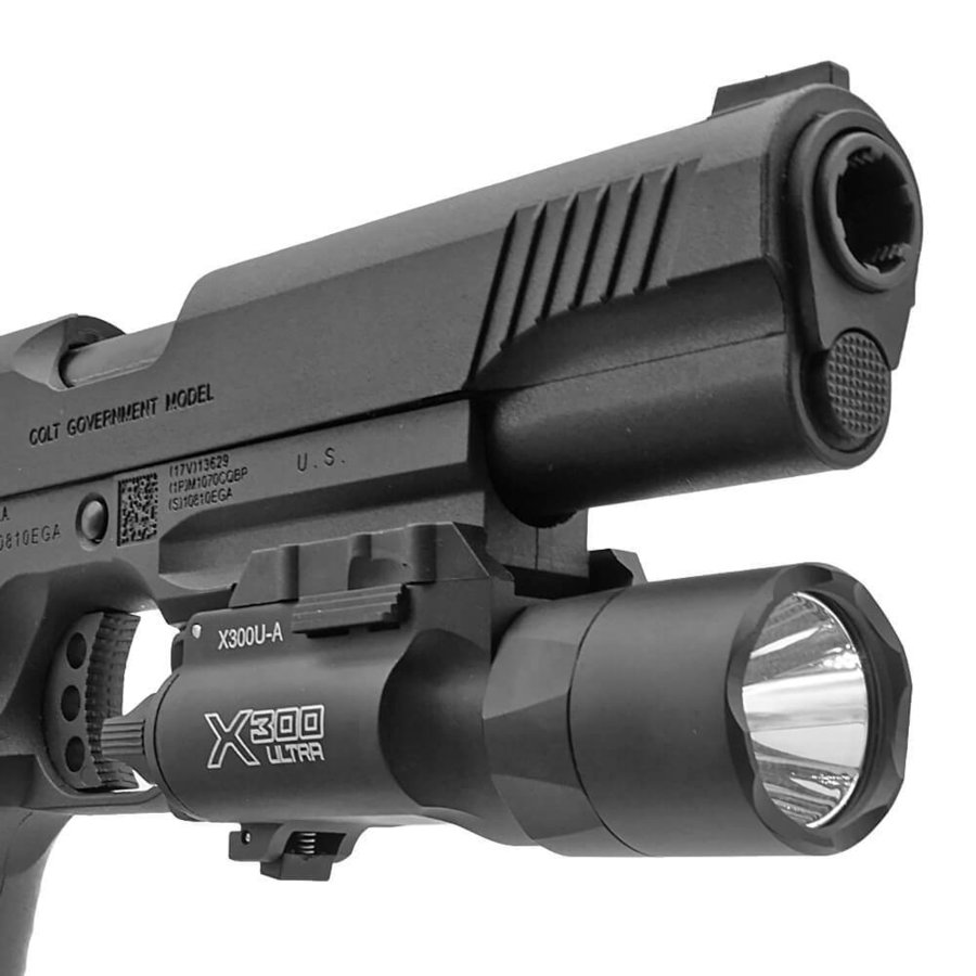 エアガン LED ライト SUREFIREタイプ X300 ULTRA フラッシュライト ハンドガン 20mmレイル 対応|naniwabase|18