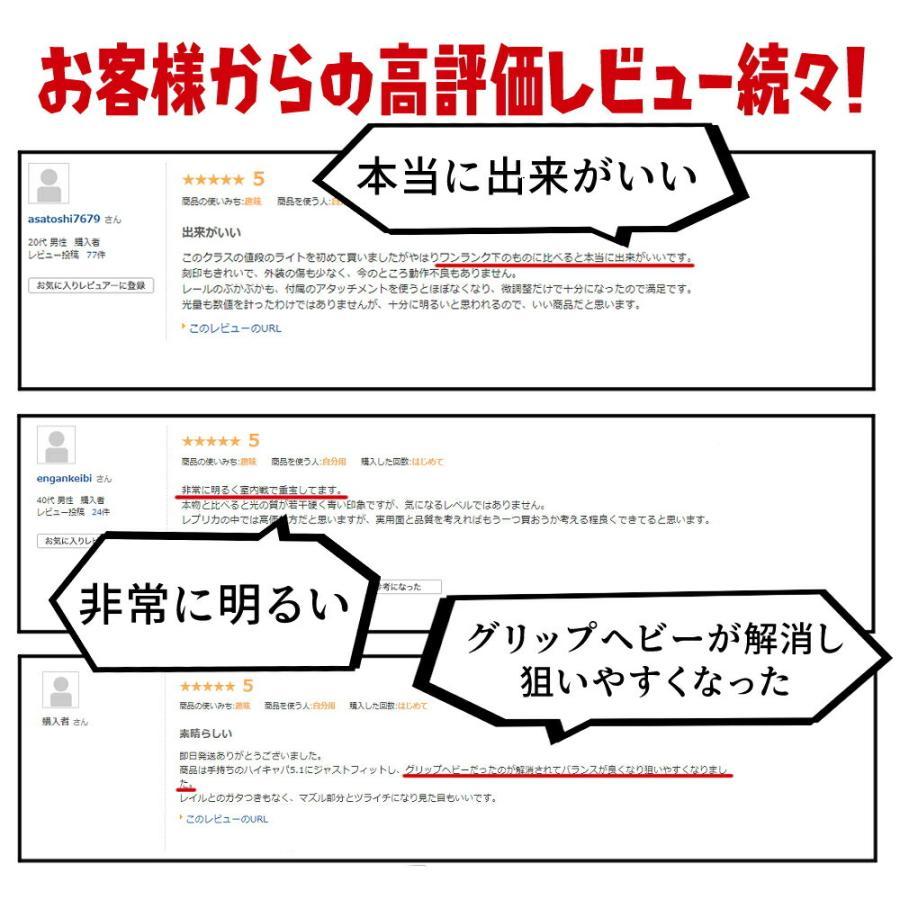 エアガン LED ライト SUREFIREタイプ X300 ULTRA フラッシュライト ハンドガン 20mmレイル 対応|naniwabase|03