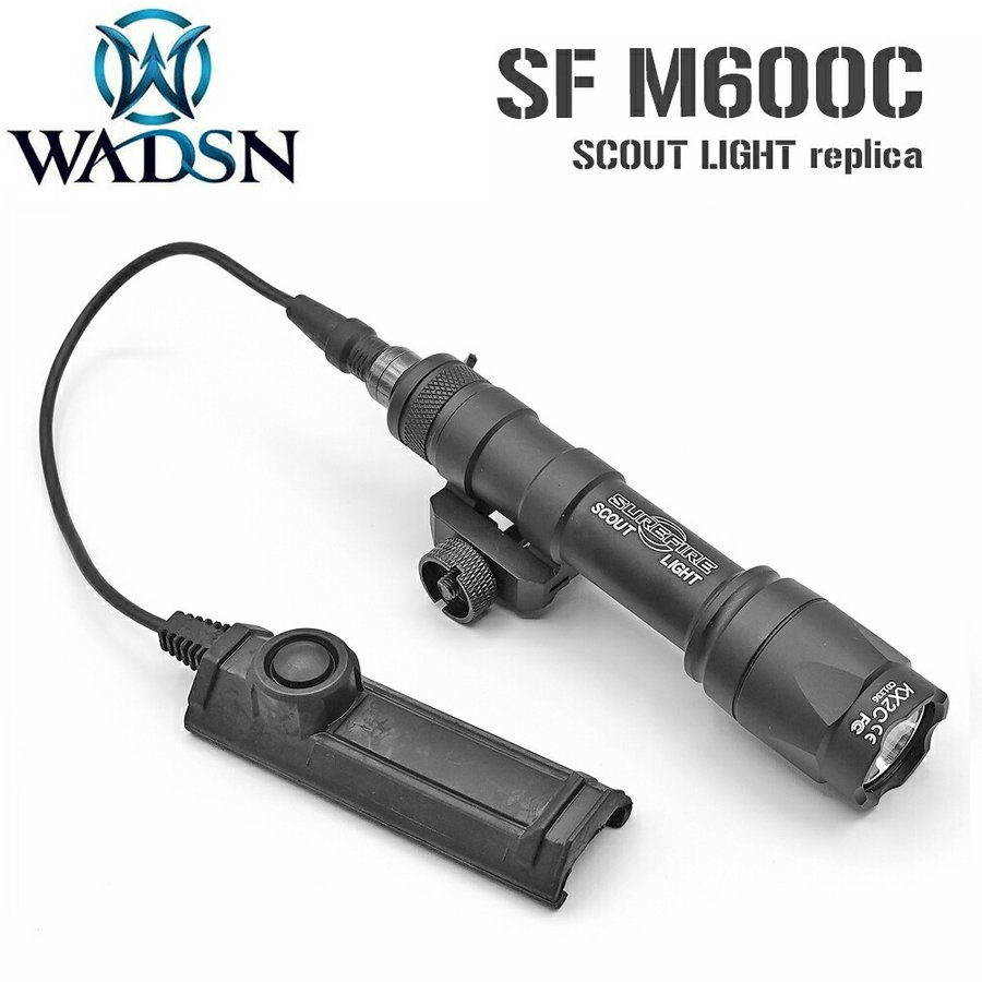 SUREFIRE タイプ M600C スカウトライト デュアルスイッチ 付き WD04007-BK-LOGO WADSN 製 naniwabase