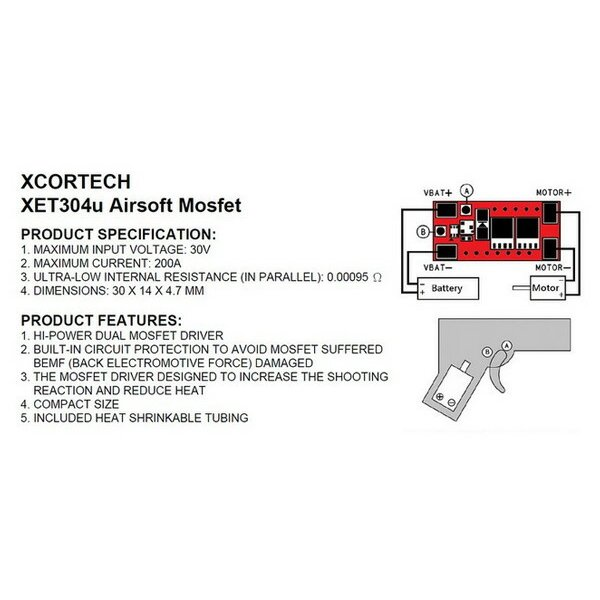 XCORTECH XET304μ MosFET エクスコアテック電動ガンFET naniwabase 04