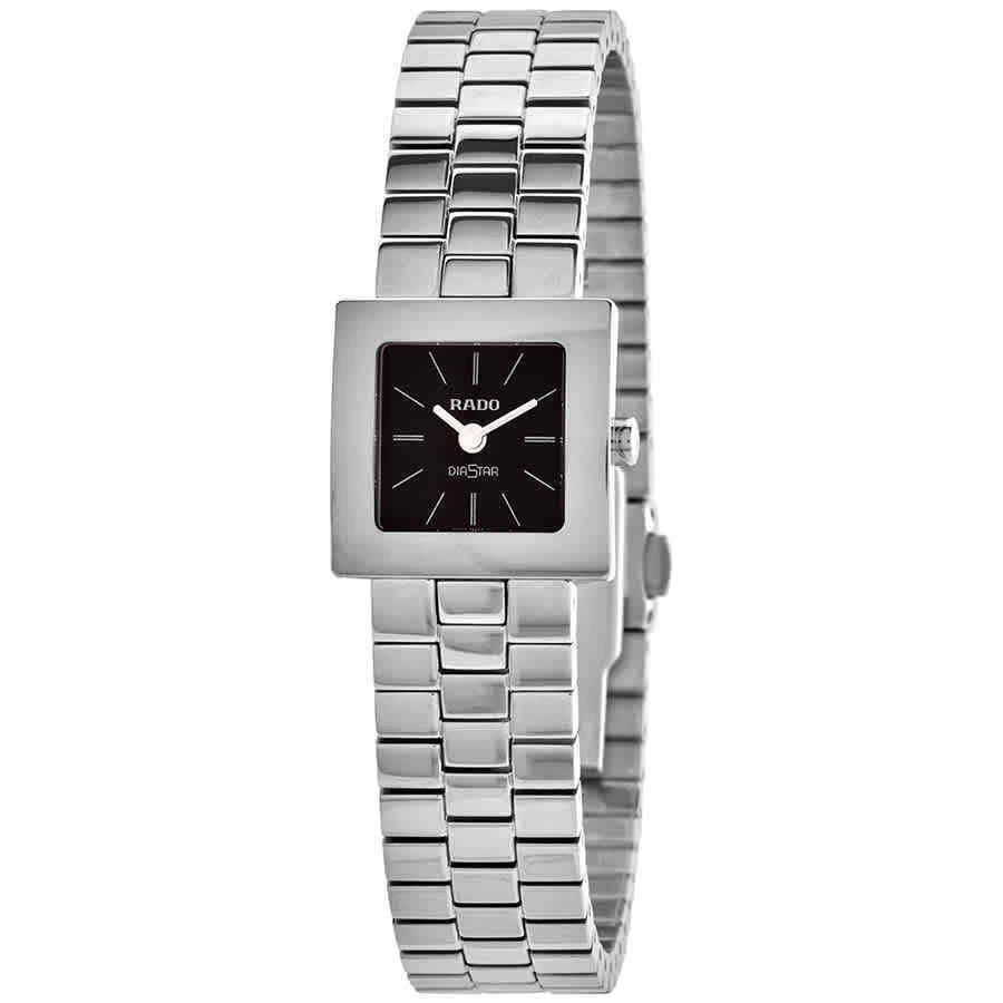 【超ポイントバック祭】 ラド― 腕時計 腕時計 Rado Diastar クォーツ Black Dial Dial Ladies Watch Watch R18682183, アシベツシ:7f84a163 --- sonpurmela.online