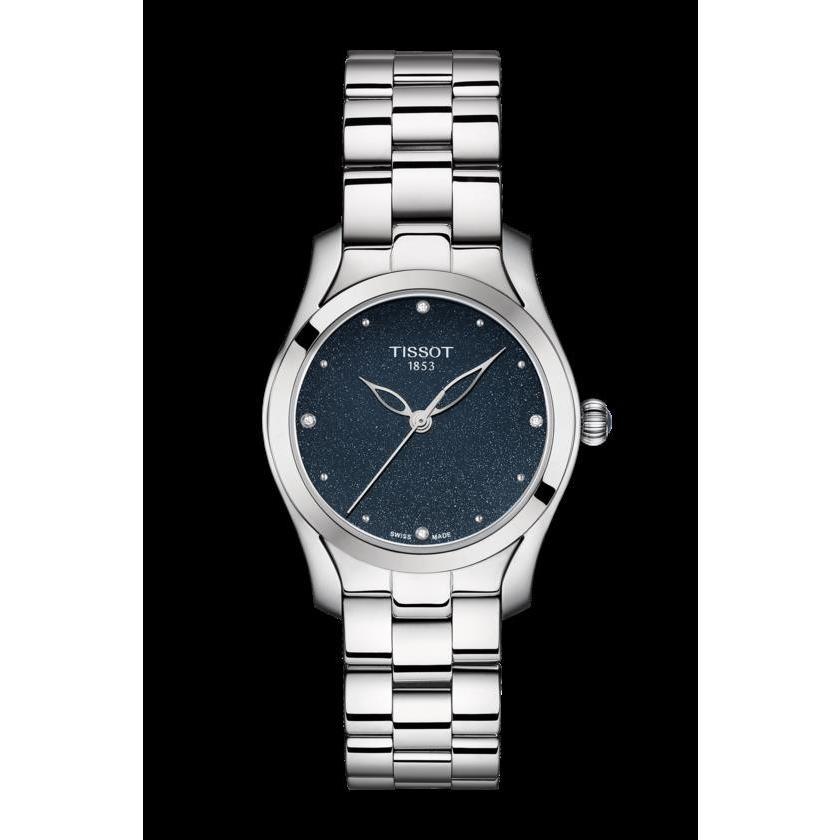 見事な創造力 ティソ 腕時計 Tissot T wave レディース Galaxy wave Blue Dial Accents Diamond Accents レディース Watch T112.210.11.046.00, アイオープラザ:f35e2e84 --- airmodconsu.dominiotemporario.com