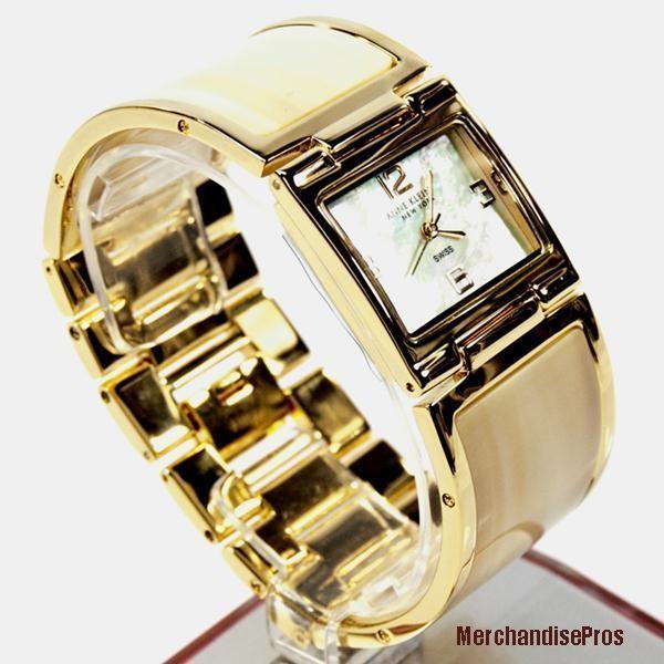 【代引可】 アンクライン 腕時計 レディース ANNE KLEIN SHELL BRACELET LADIES WATCH NWT! !, 韓流スターSHOP ピーエスエス 3b61e54f