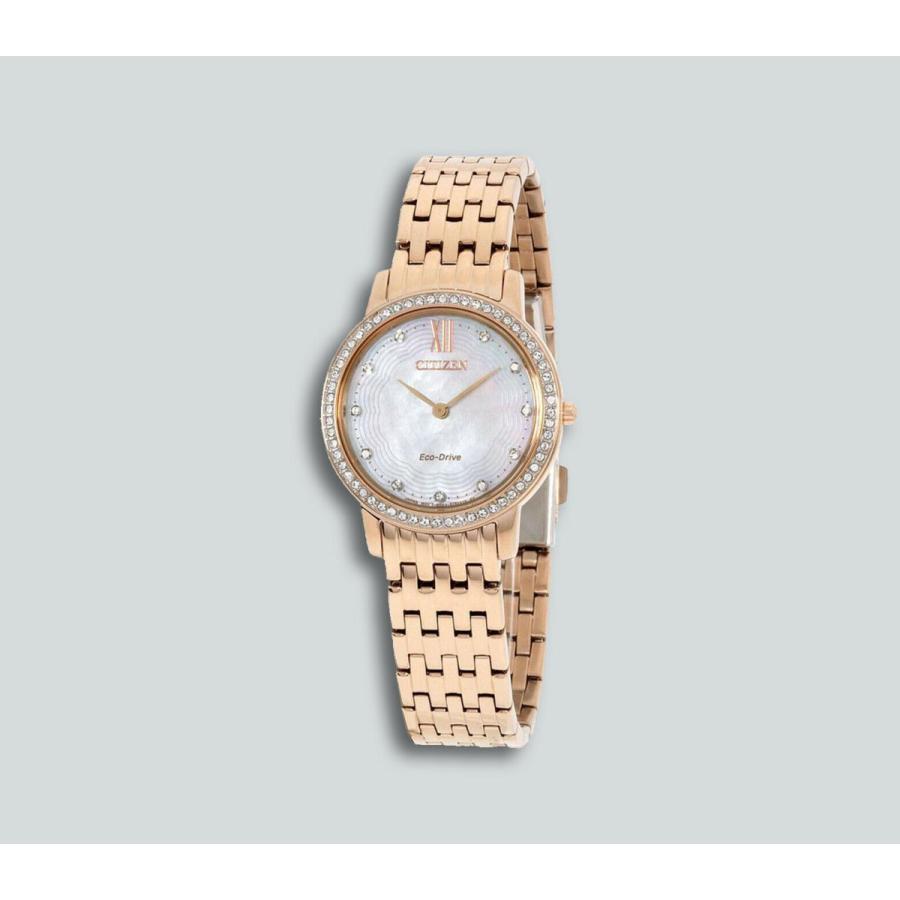 豪華 シチズン 腕時計 Authentic New Citizen Silhouette Crystal Eco-Drive エコドライブ レディース Watch EX1483-50D, Nale ダイレクト 98137a5b