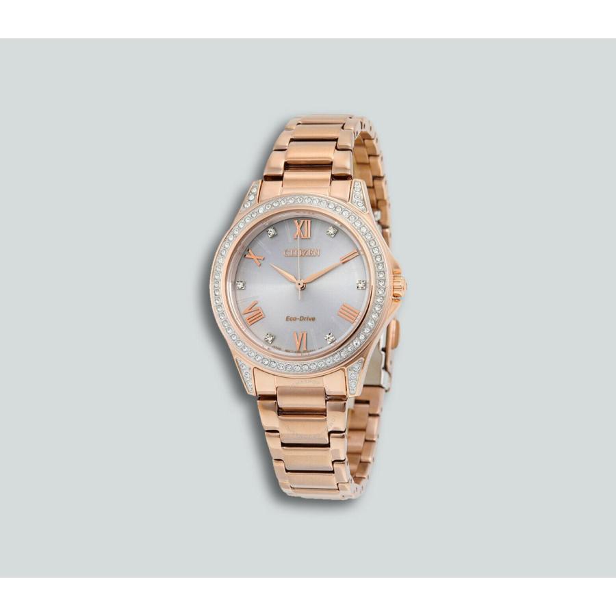 【50%OFF】 シチズン 腕時計 腕時計 Authentic New Citizen Rose エコドライブ Gold Eco-Drive エコドライブ Crystal POV Swarovski Crystal Watch EM0233-51A, うれしいオフィス:b8e71d47 --- sonpurmela.online