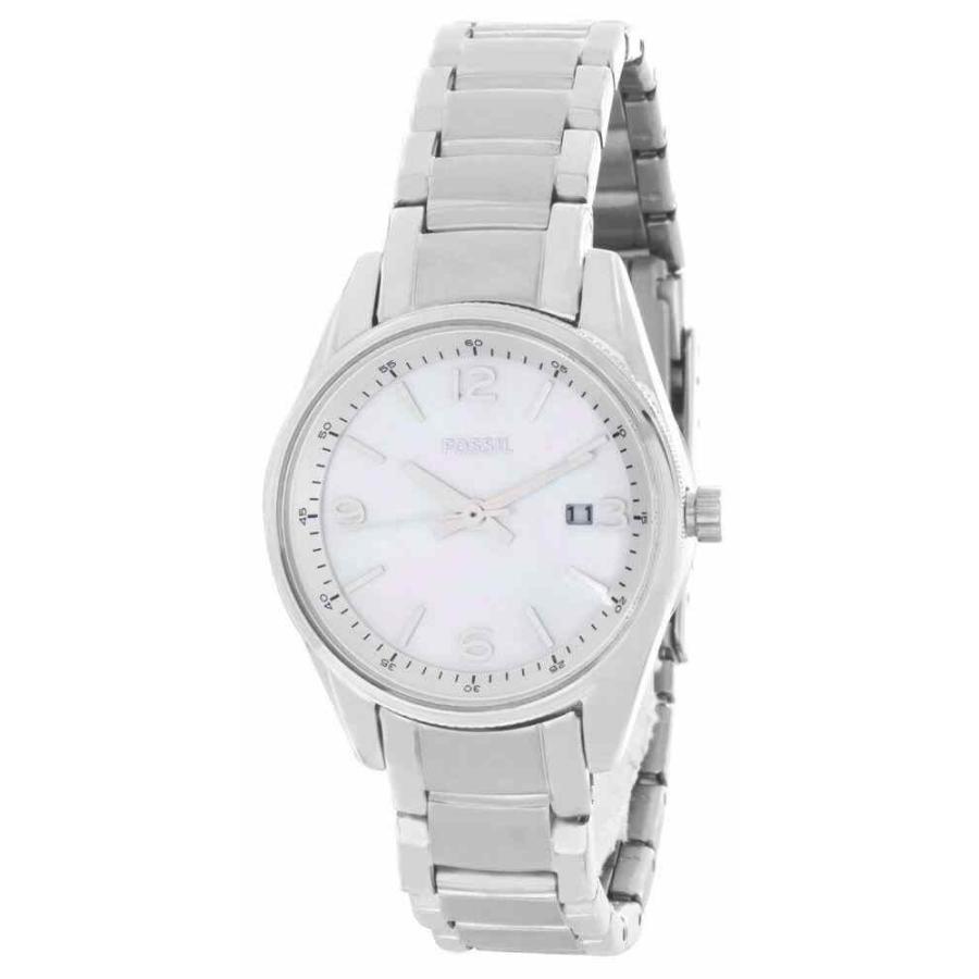 【名入れ無料】 フォッシル 腕時計 Fossil Mother of Pearl Dial Stainless Steel Bracelet レディース Watch BQ1477IE, ワッサムチョウ 33129551