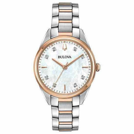 2019人気新作 ブローバ 腕時計 Bulova レディース レディース Two Two Tone Watch Rose Gold/Silver Stainless Steel Bracelet Watch 98P183, 箱根 sagamiya:e2f1ef12 --- airmodconsu.dominiotemporario.com