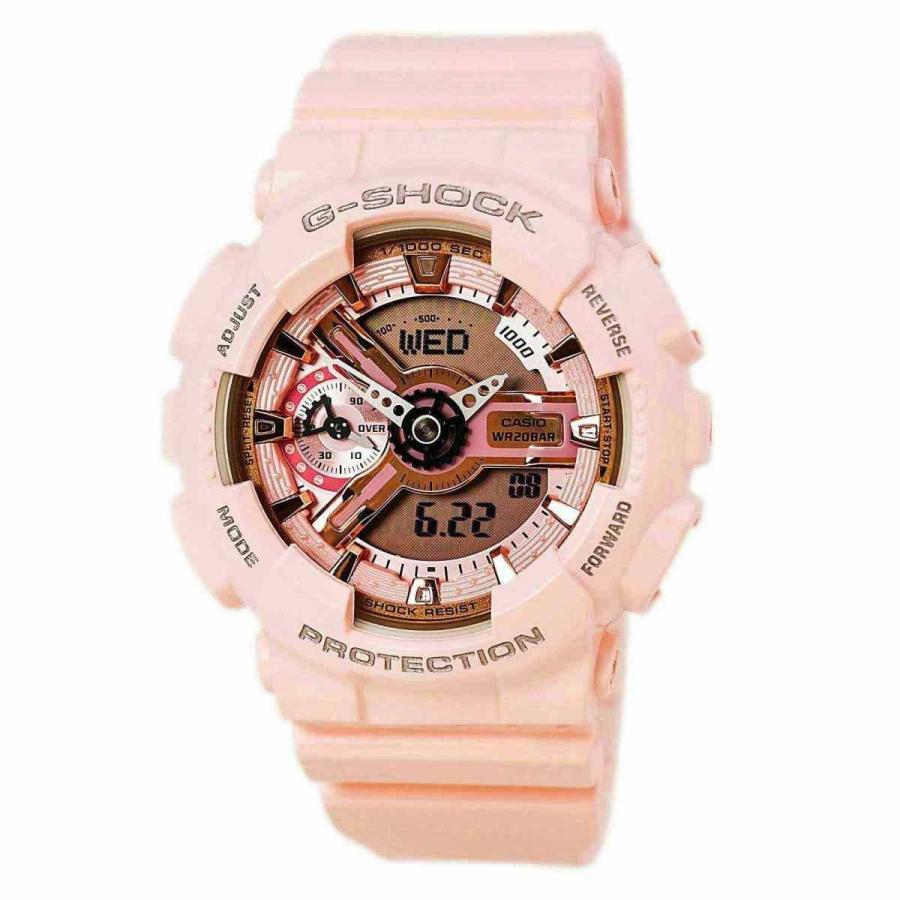 世界の カシオ 腕時計 Casio G-Shock Ladies Light Pink Resin Band Watch GMAS110MP-4A1, ナカサトムラ 1ee1198b