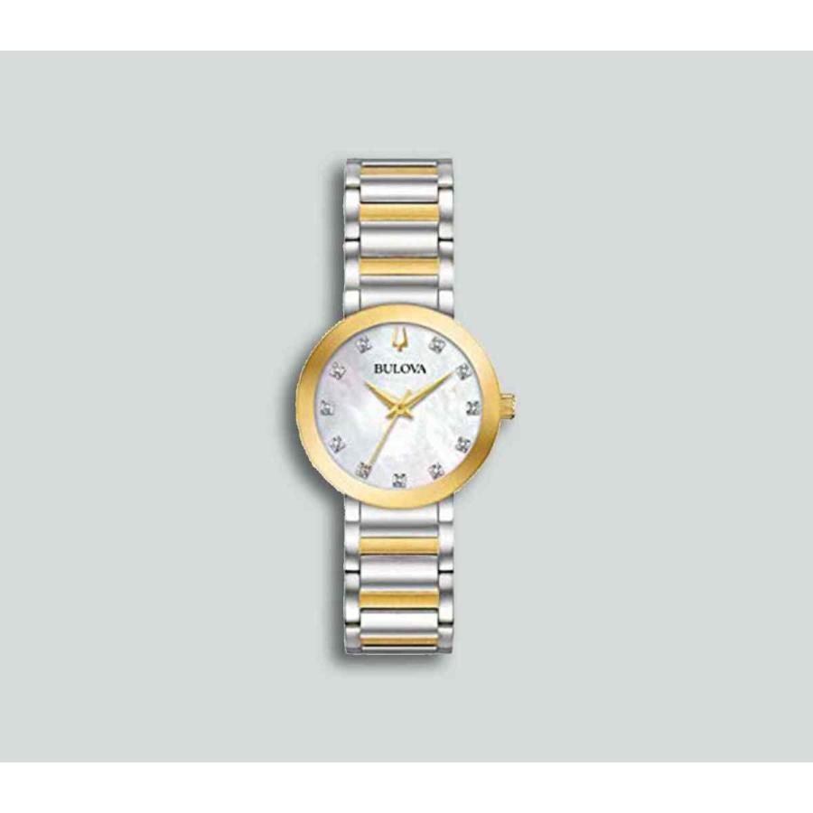(訳ありセール 格安) ブローバ 腕時計 Authentic Bulova レディース Futuro Gold-Tone Accented Stainless Watch 98P180, Q'S ANTIQUES 643ecf3e