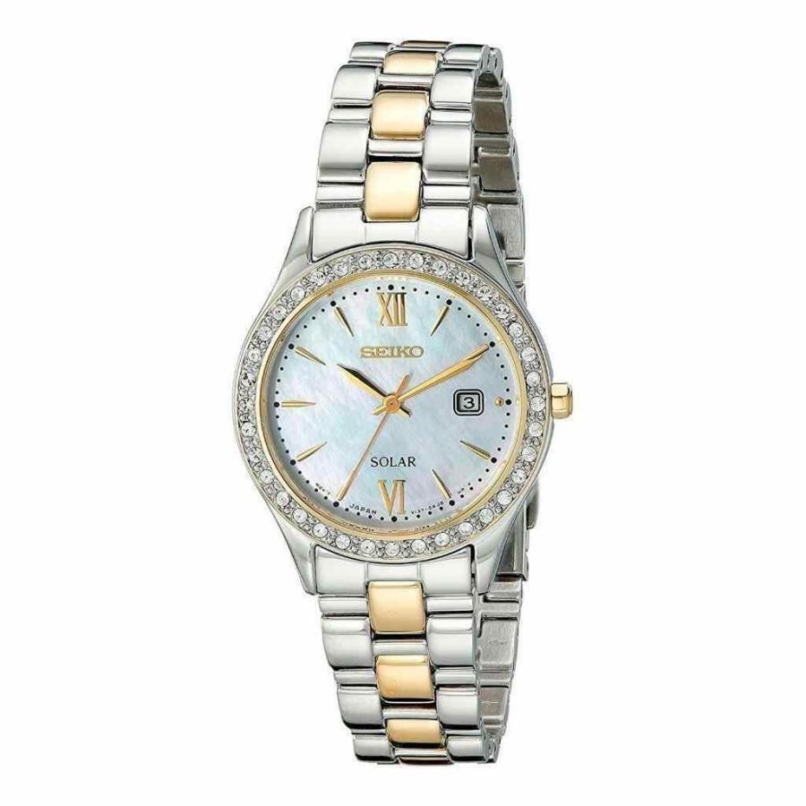 【ラッピング無料】 セイコー Seiko 腕時計 Seiko レディース Solar Mother of Pearl of Two-Tone Date Stainless Steel Date Watch SUT074, 栃尾市:7482d1c3 --- photoboon-com.access.secure-ssl-servers.biz