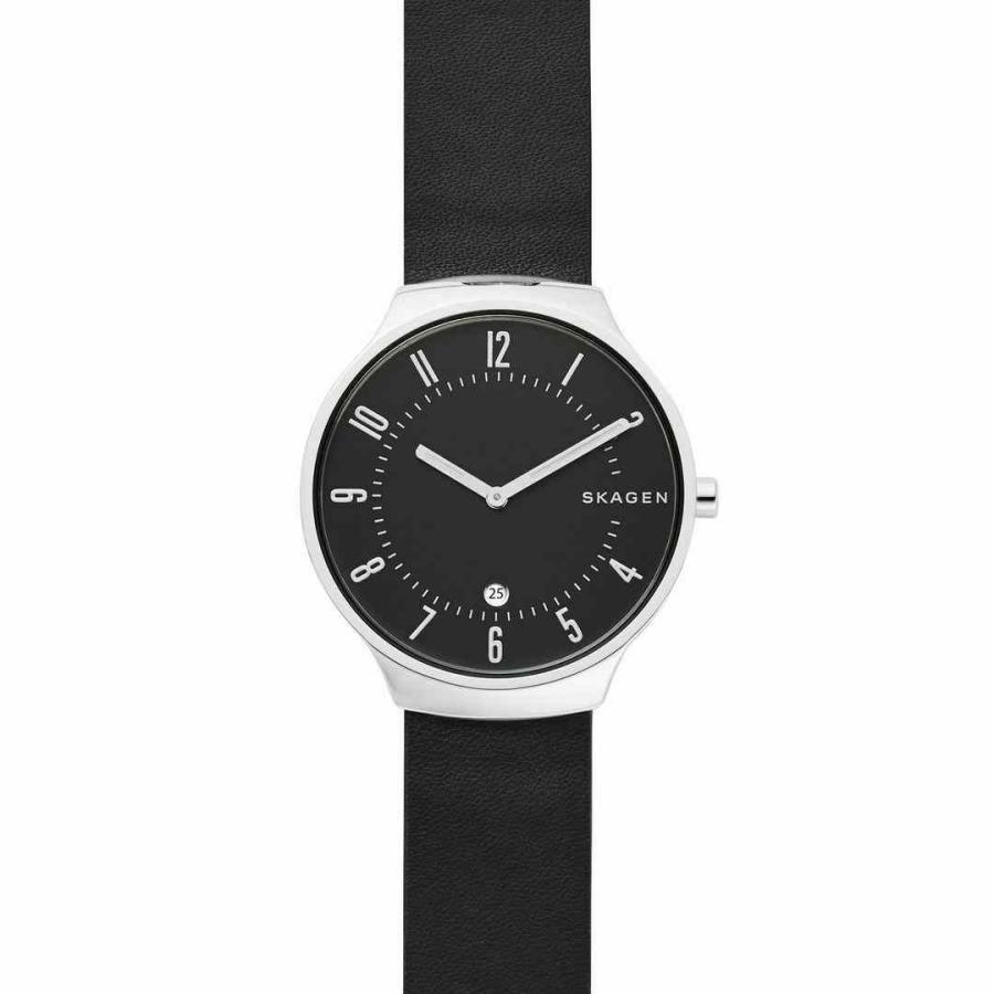 美品  スカーゲン 腕時計 Skagen Montre Bracelet pour Noir Skagen Hommes 腕時計 Grenen グレーネン Analogue クォーツ Cuir Noir Skw6459, 生活ショップ もん:ba8c98a2 --- sonpurmela.online