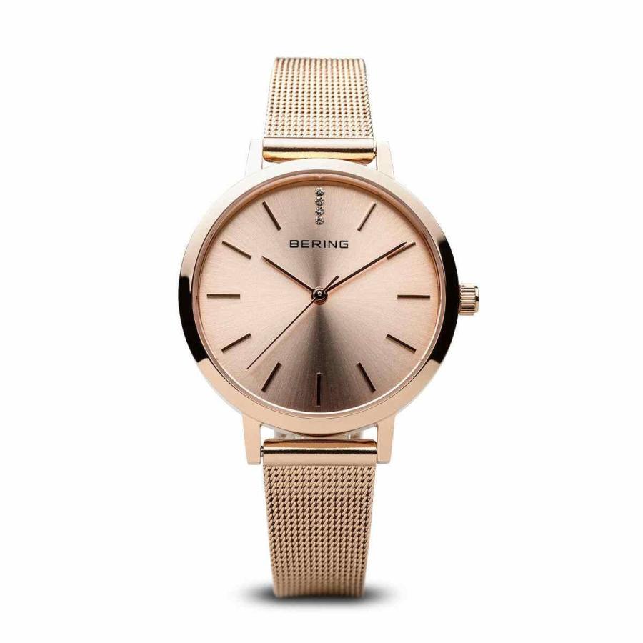 出産祝い ベーリング 腕時計 BERING 13434-366 レディース Rose Gold Classic クラシック Watch Rose Gold Milanese Strap, ベクトル 岡山駅前店 89abd2f6