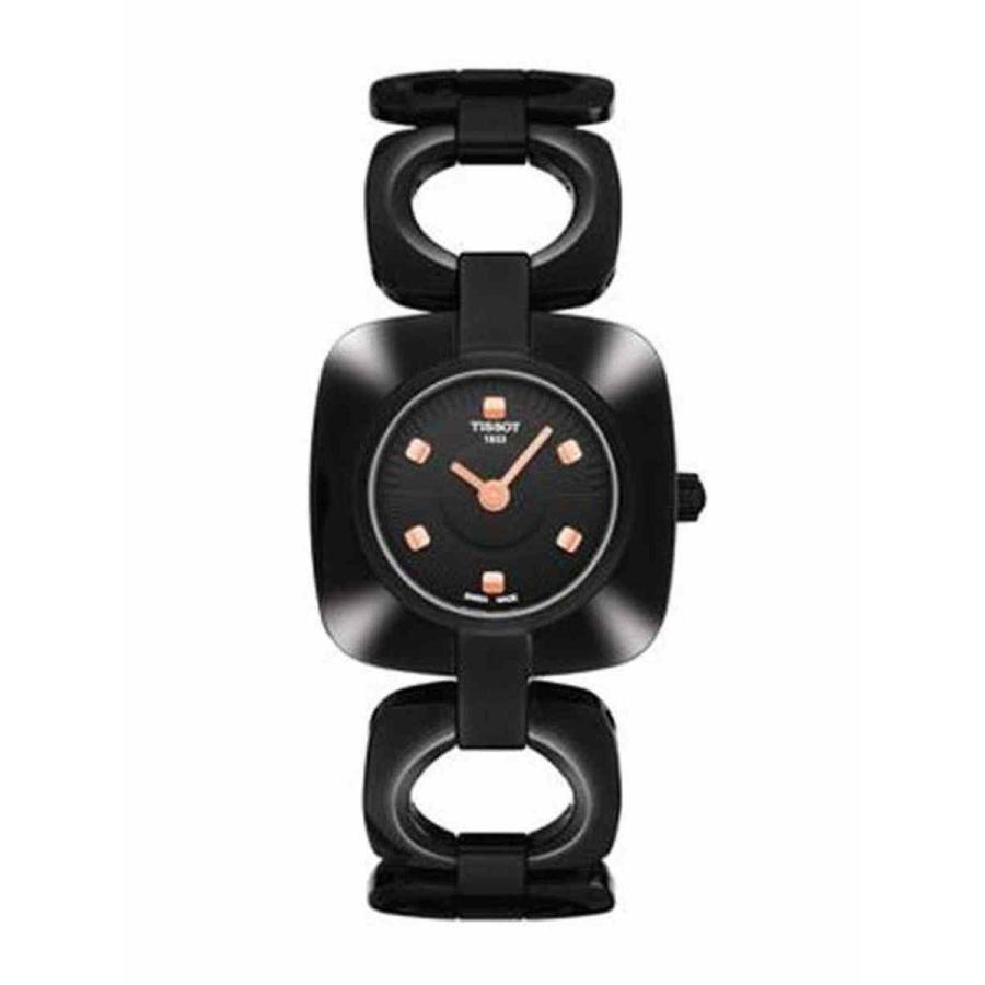 お気に入り ティソ 腕時計 Tissot Odaci-T Black PVD Square Black 腕時計 Odaci-T Dial Square レディース Watch #T020.109... (FreeShip), すず陶:1830d0ea --- chizeng.com