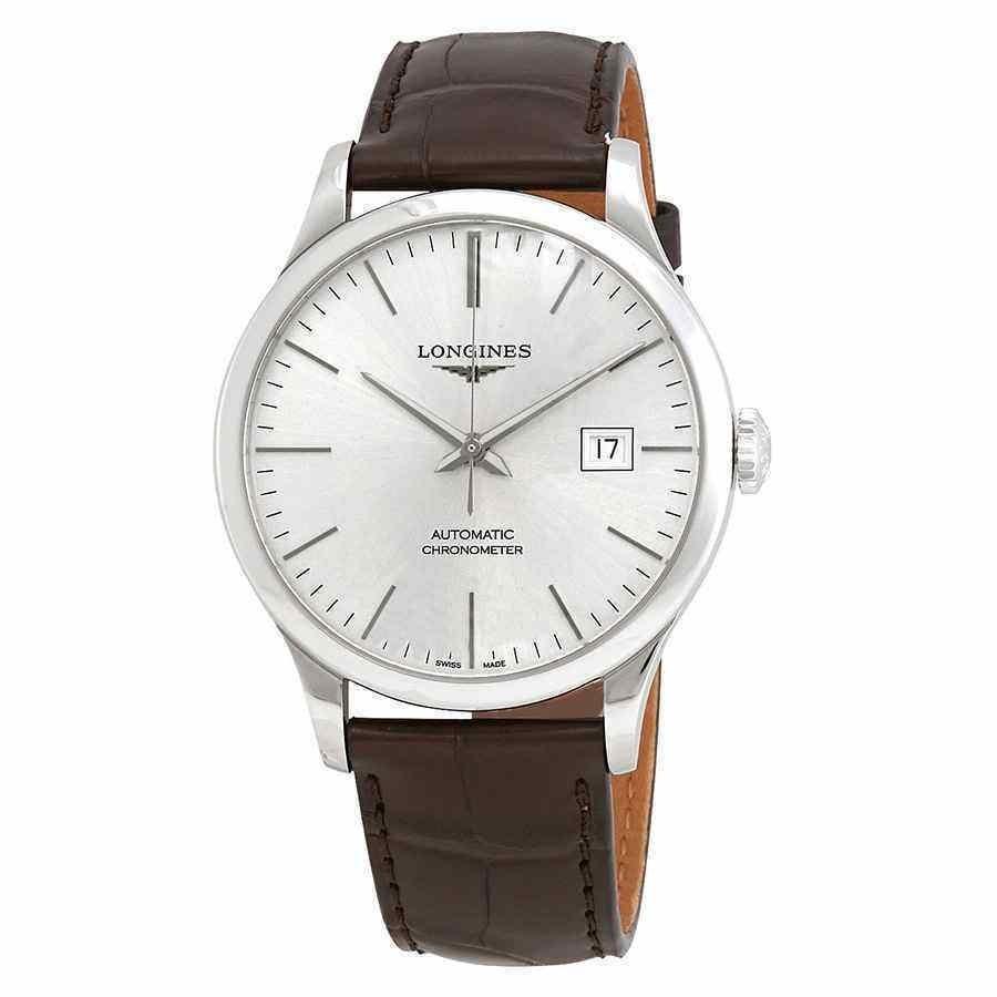 大人気の ロンジン Silver 腕時計 Longines Record Record Automatic Sunray Watch Silver Dial メンズ Watch L28214722, 布団マットレス専門店ねごこち本舗:64fc2d5d --- airmodconsu.dominiotemporario.com