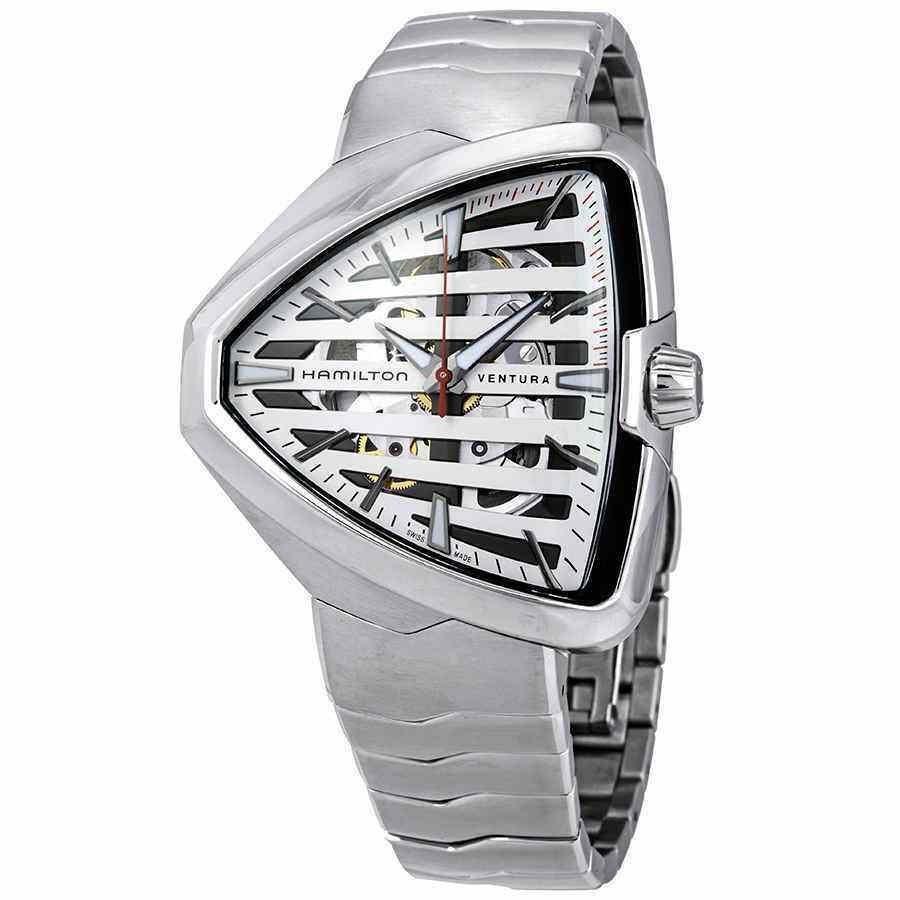開店祝い ハミルトン 腕時計 Shield Hamilton Ventura Elvis80 Automatic Skeleton Skeleton Shield Shaped ハミルトン メンズ Watch H24555181, 表札ポストグレーチングの通販売店:2c1335ab --- airmodconsu.dominiotemporario.com