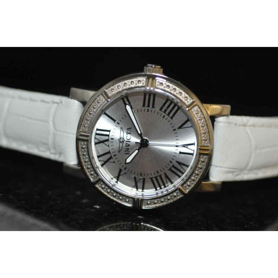 【予約販売】本 インビクタ 腕時計 Invicta Genuine レディース Rare Wildflower Silver Leather Dial Watch White ホワイト Genuine Leather Watch 14891 インヴィクタ, Chargespeed official store:7c8a7f17 --- airmodconsu.dominiotemporario.com