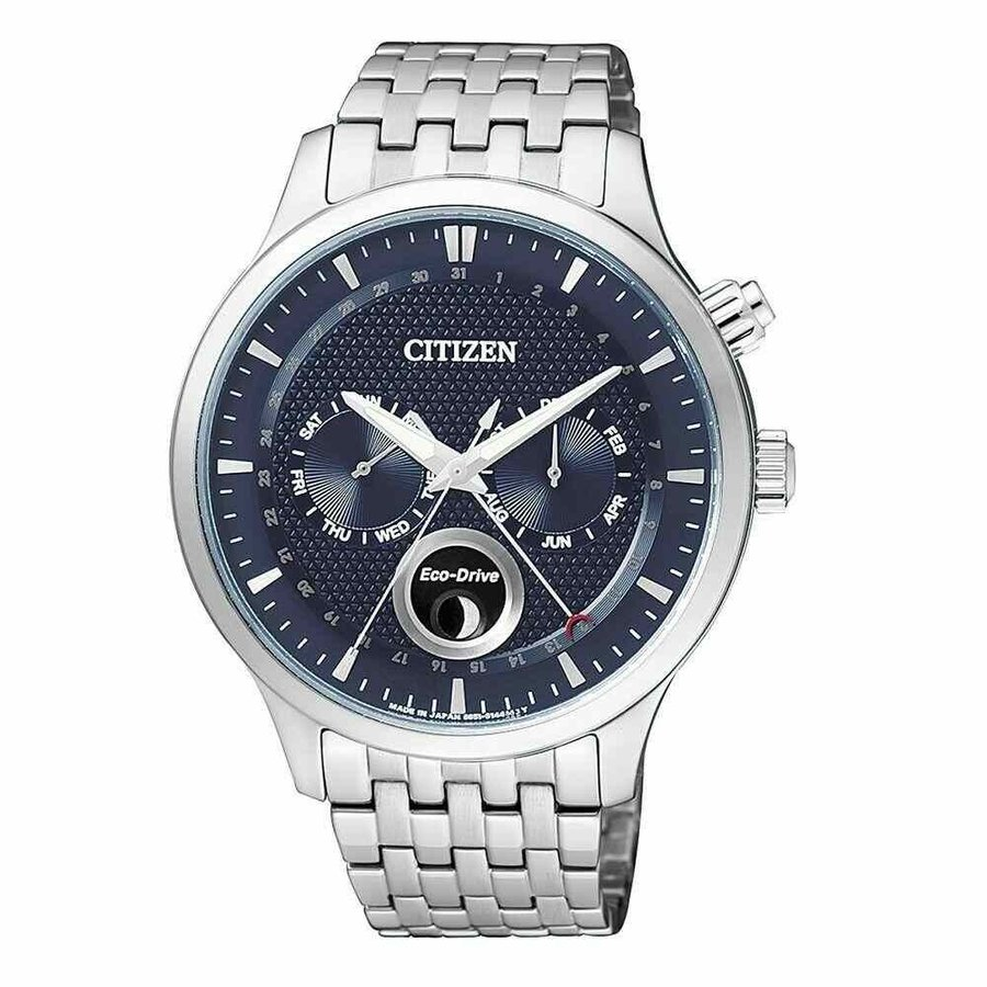 【予約受付中】 シチズン 腕時計 Citizen AP1050-56L Eco-Drive エコドライブ Moon Phase Stainless Steel Bracelet メンズ Watch, CQオーム b6e7d953