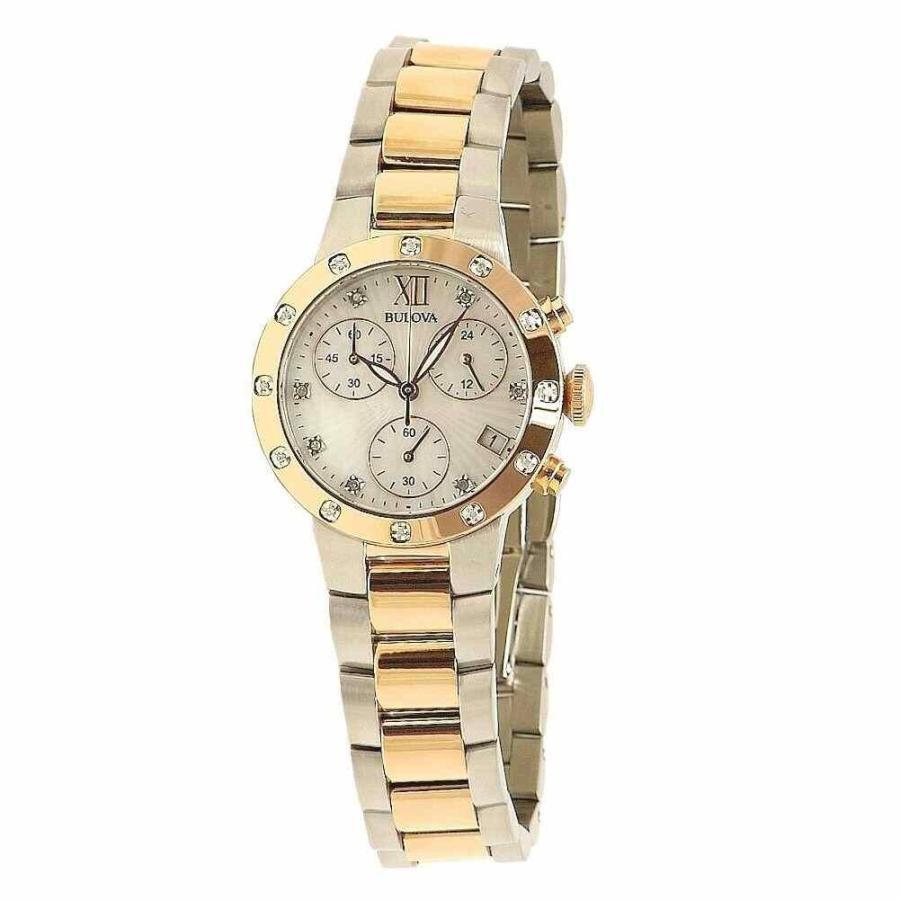 豪奢な ブローバ 腕時計 Bulova Diamond Collection 98R210 Rose Gold/Silver クロノグラフ Analog Watch, AliceShopCreamtea 76da25fc
